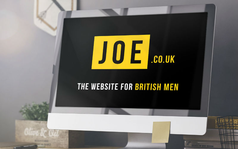 Joe.co.uk targets a male millennial demographic